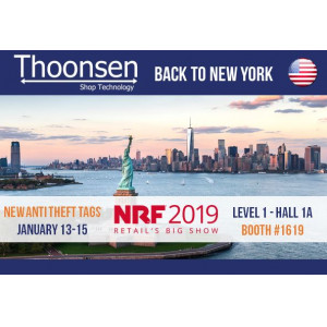 Discover Thoonsen's new shop technologies at the NRF Big show: increase profits & customer satisfaction, manage your stocks and lower shrinkage!